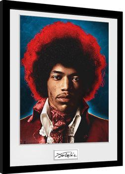 Jimi Hendrix - Sky Poster Emoldurado