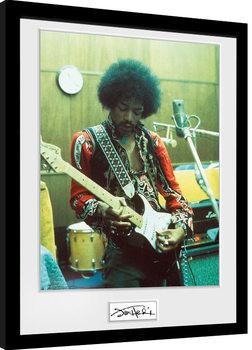 Jimi Hendrix - Studio Poster Emoldurado