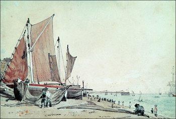 Reprodução do quadro  John Constable - Spiaggia Di Brighton