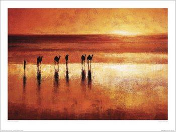 Reprodução do quadro Jonathan Sanders - Camel Crossing