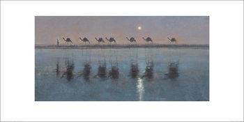 Reprodução do quadro Jonathan Sanders - Jade Sea Reflections