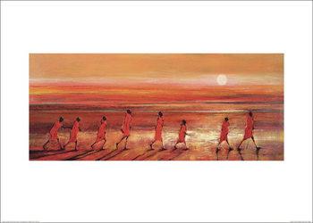 Reprodução do quadro Jonathan Sanders - Samburu Sunset