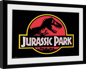 Jurassic Park - Logo Poster Emoldurado