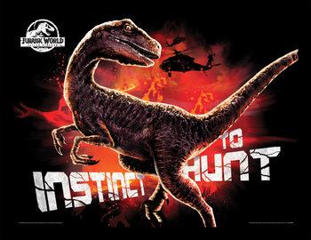 Jurassic World: Fallen Kingdom - Instinct To Hunt Poster Emoldurado