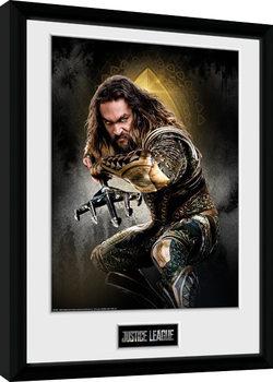 Justice League Movie - Aquaman Solo Poster Emoldurado