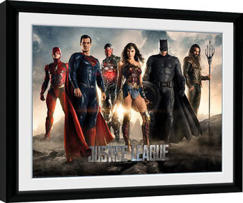 Justice League Movie - Characters Poster Emoldurado