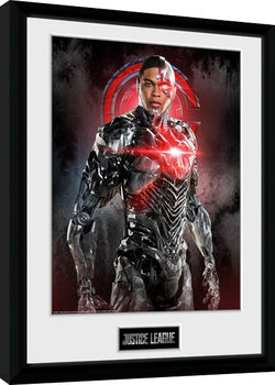 Justice League Movie - Cyborg Solo Poster Emoldurado