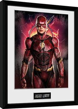 Justice League Movie - Flash Solo Poster Emoldurado