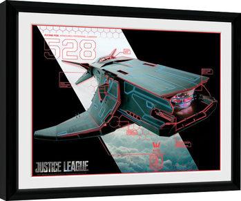 Justice League Movie - Flying Fox Poster Emoldurado