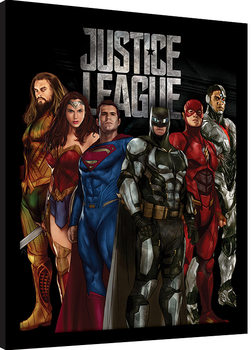 Justice League Movie - Stand Tall Poster Emoldurado