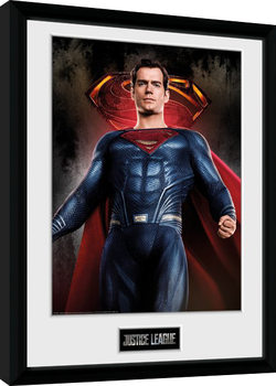 Justice League Movie - Superman Solo Poster Emoldurado