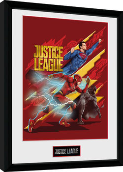 Justice League Movie - Trio Poster Emoldurado