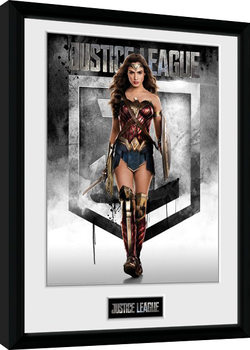 Justice League Movie - Wonder Woman Poster Emoldurado