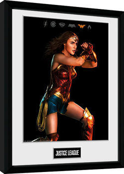 Justice League - Movie Wonder Woman Poster Emoldurado