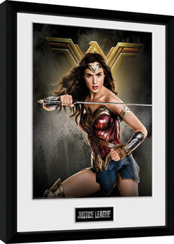 Justice League Movie - Wonder Woman Solo Poster Emoldurado