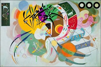 Reprodução do quadro  Kandinsky - Curva Dominante