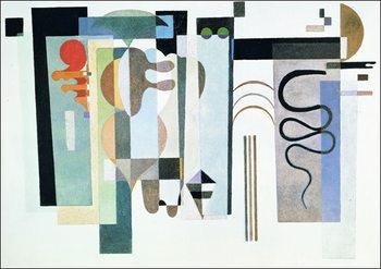Reprodução do quadro  Kandinsky - Due Punti Verdi