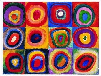 Reprodução do quadro  Kandinsky - Farbstudie Quadrate