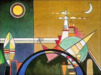 Reprodução do quadro  Kandinsky - La Grande Torre Di Kiev