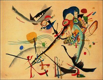 Reprodução do quadro  Kandinsky - Study For Blue Segment