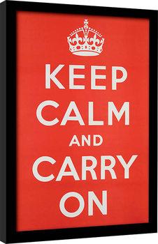 Keep Calm and Carry On Poster Emoldurado