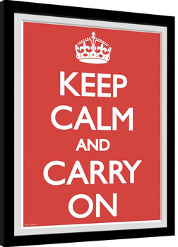 Keep Calm And Carry On Poster Emoldurado