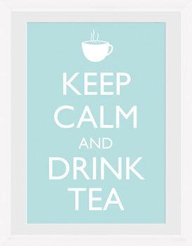 Keep Calm - Tea (White) Poster Emoldurado