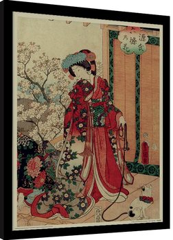 Kunisada - History of the Prince Genji, Princess Poster Emoldurado