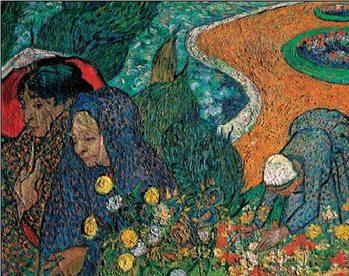 Reprodução do quadro  Ladies of Arles - Memory of the Garden at Etten, 1888