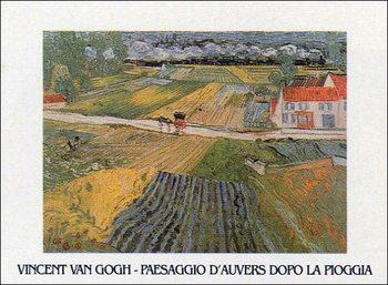 Reprodução do quadro Landscape at Auvers after the Rain, 1890
