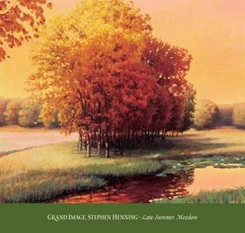Reprodução do quadro Late Summer Meadow