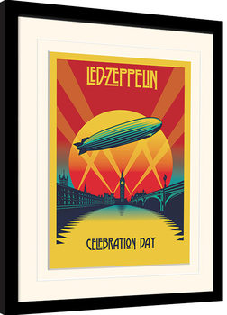 Led Zeppelin - Celebration Day Poster Emoldurado