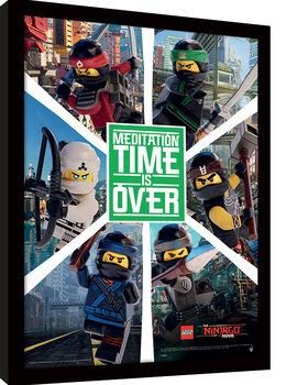 LEGO® Ninjago Movie - Six Ninjas Poster Emoldurado