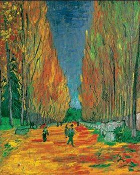 Reprodução do quadro Les Alyscamps, 1888