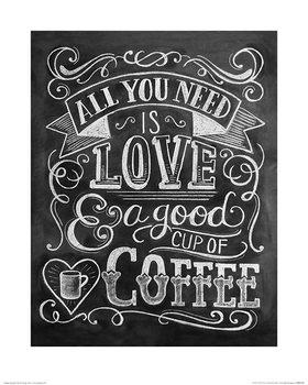 Reprodução do quadro  Lily & Val - Coffee