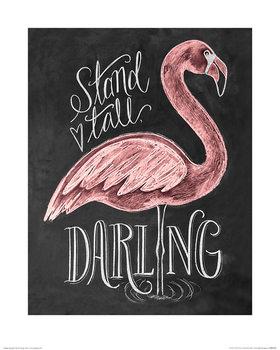 Reprodução do quadro  Lily & Val - Flamingo