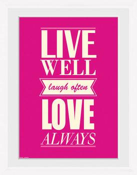 Live - Love Poster Emoldurado