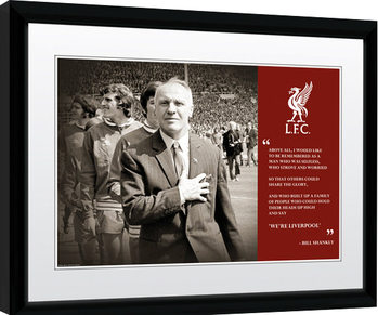 Liverpool - Shankly Quote Print Poster Emoldurado