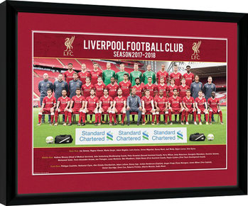 Liverpool - Team Photo 17/18 Poster Emoldurado