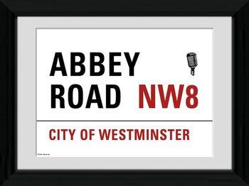 London - Abbey Road Poster Emoldurado