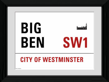 London - Big Ben Poster Emoldurado