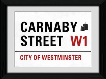London - Carnaby Street Poster Emoldurado
