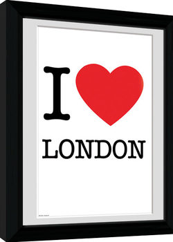 London - I Love Poster Emoldurado