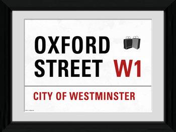 London - Oxford Street Poster Emoldurado