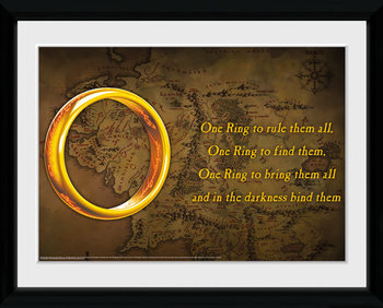 Lord Of The Rings - One Ring Poster Emoldurado