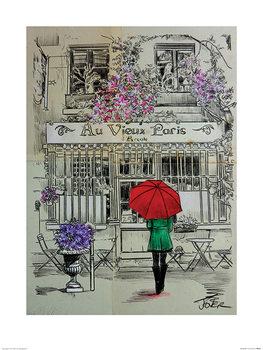 Reprodução do quadro  Loui Jover - Au Vieux Paris