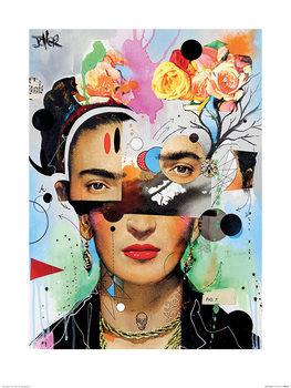 Reprodução do quadro  Loui Jover - Kahlo Anaylitica