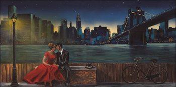 Reprodução do quadro  Lovers in Manhattan