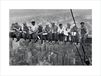 Reprodução do quadro  Lunch on a skyscraper