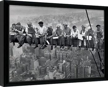 Lunch on a Skyscraper Poster Emoldurado